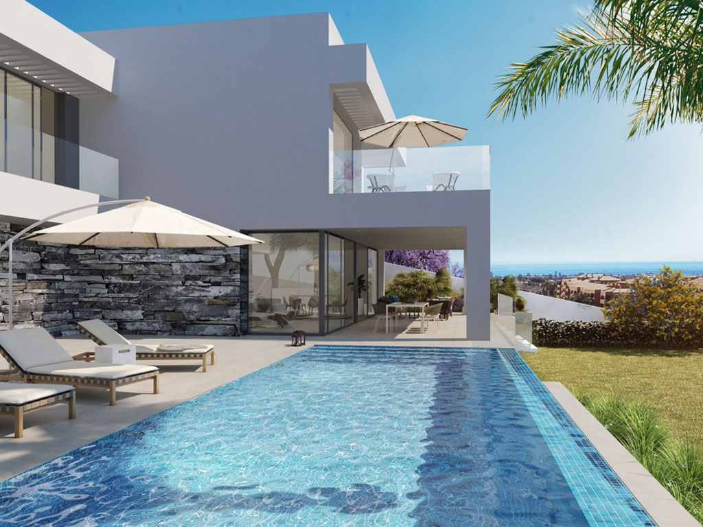 Modern luxury design villas in a gated 5-star golf resort with panoramic sea views