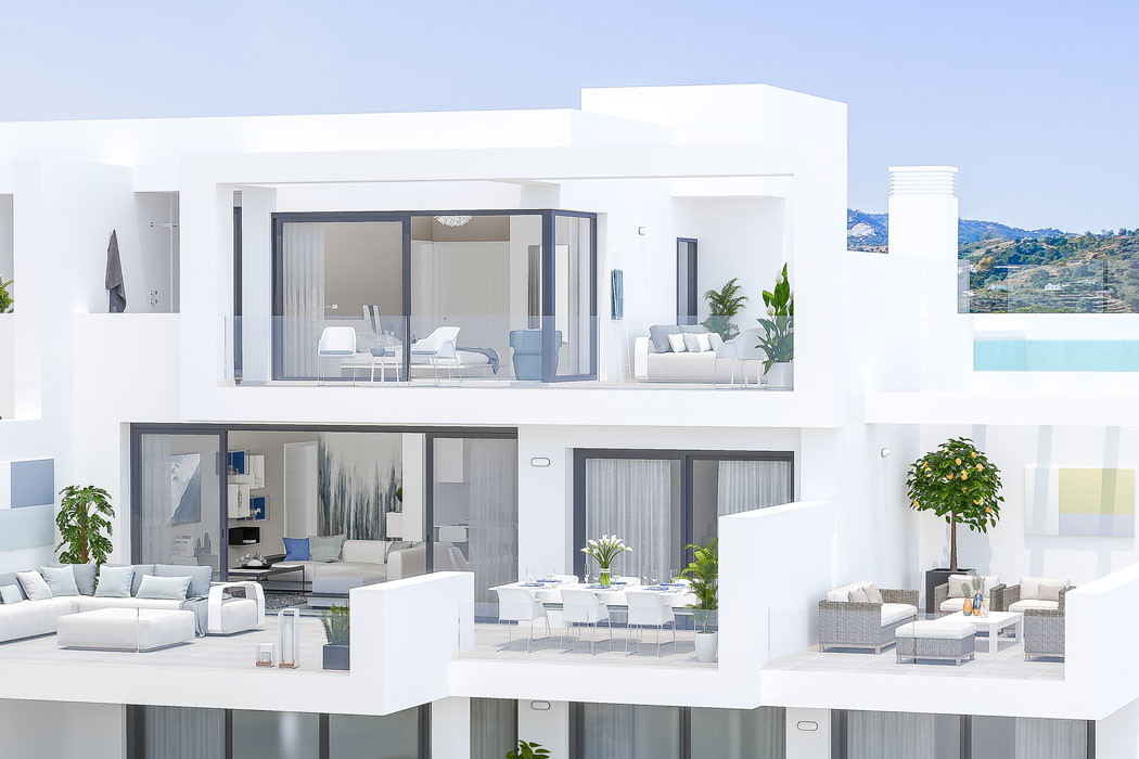 54 modern apartments and penthouses in La Cala Golf Resort