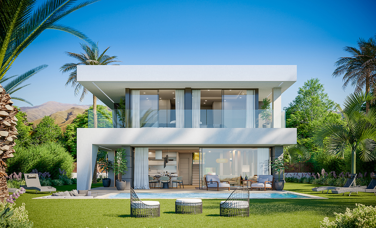 Modern and fresh villas with panoramic sea views