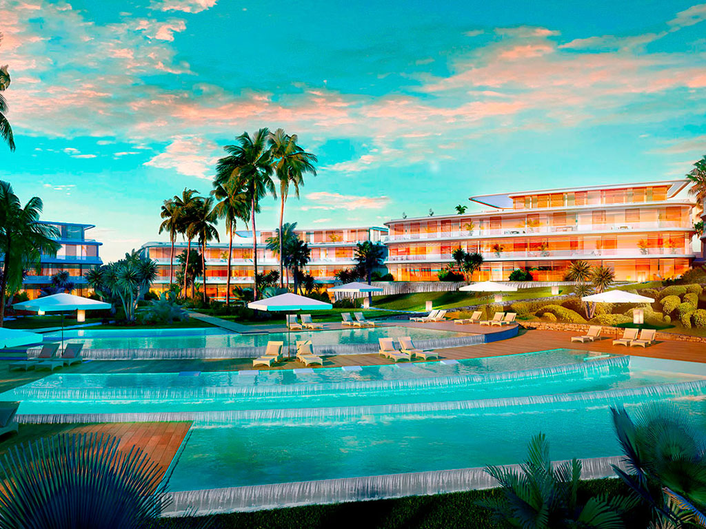 Luxurious front-line beach development in Estepona