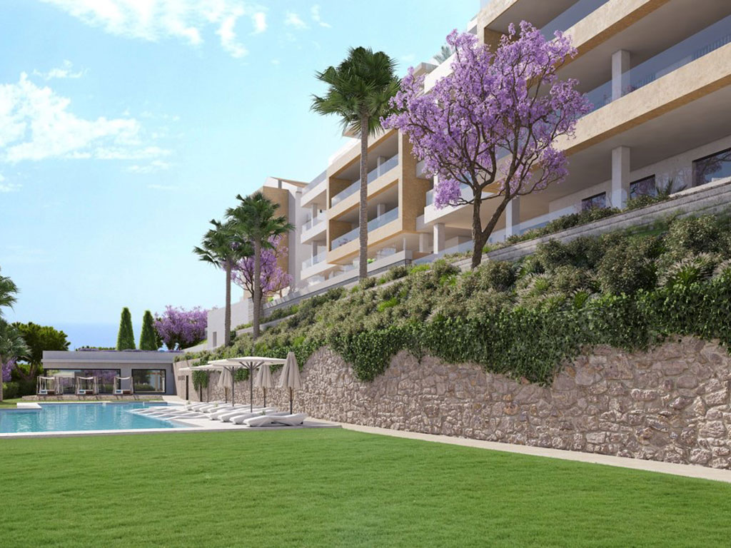 Apartments in a private development in Benalmadena