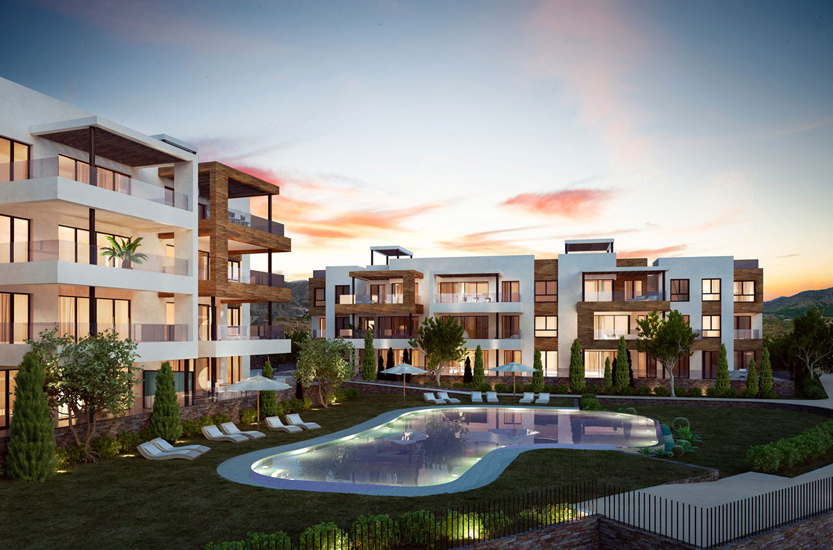 Apartments in a luxury residential complex