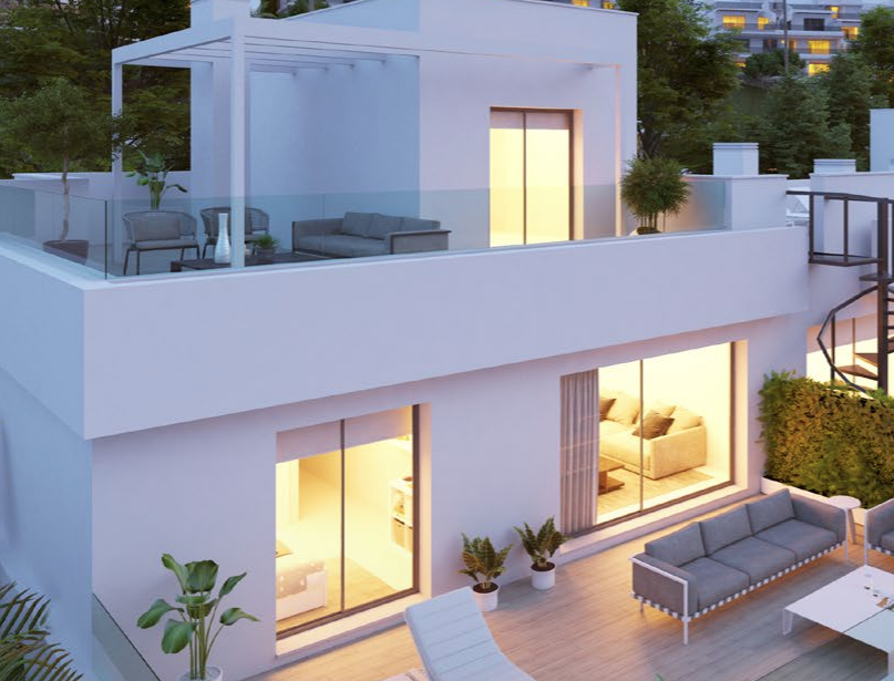 Avant-garde townhouses in the New Golden Mile of Estepona
