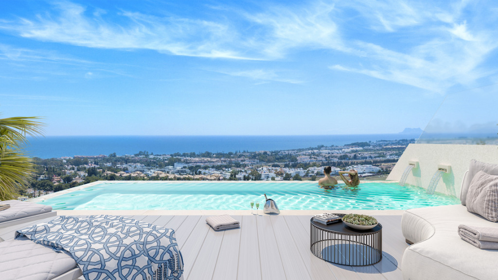 Villas situated in Nueva Andalucía, Marbella with panoramic views of La Concha mountain and Mediterranean Sea