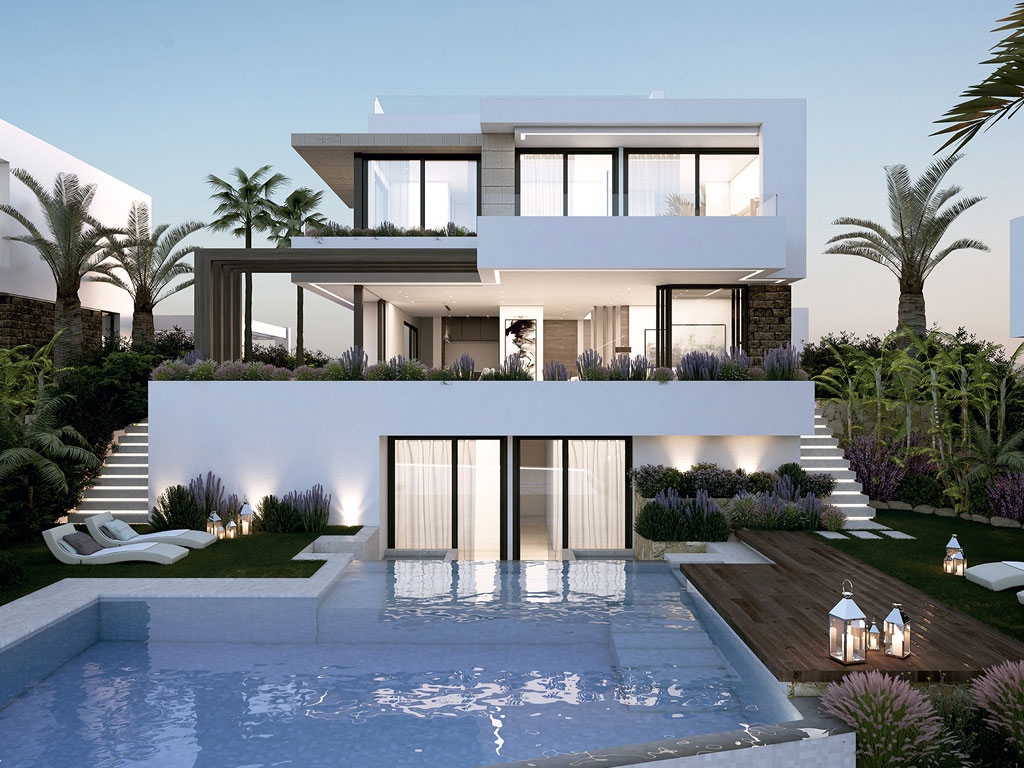 Stylish, contemporary villas close to golf