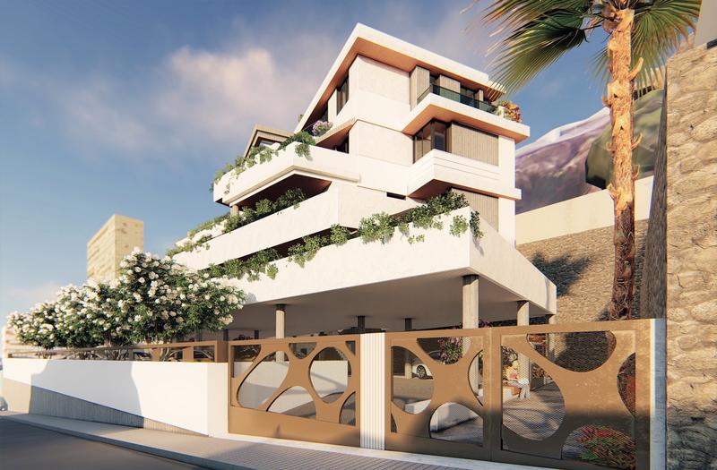 Apartments With Beautiful Sea Views And Private Swimming Pool On The Large Terraces