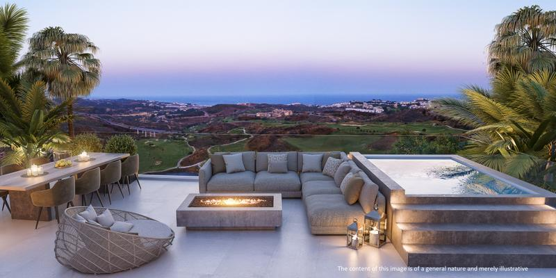 Luxury apartments with sea and golf views at Mijas Cost