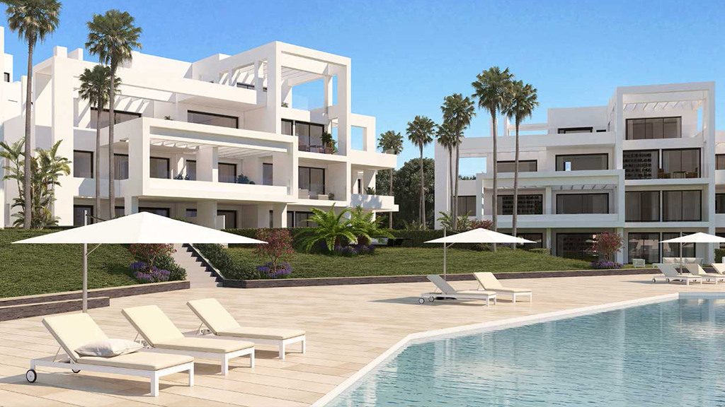 Spacious new and modern apartments situated few steps from the golf course Atalaya