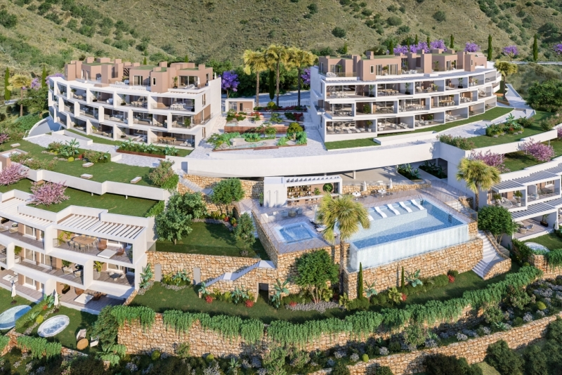 Apartments with magnificent terraces and spectacular views to the Mediterranean