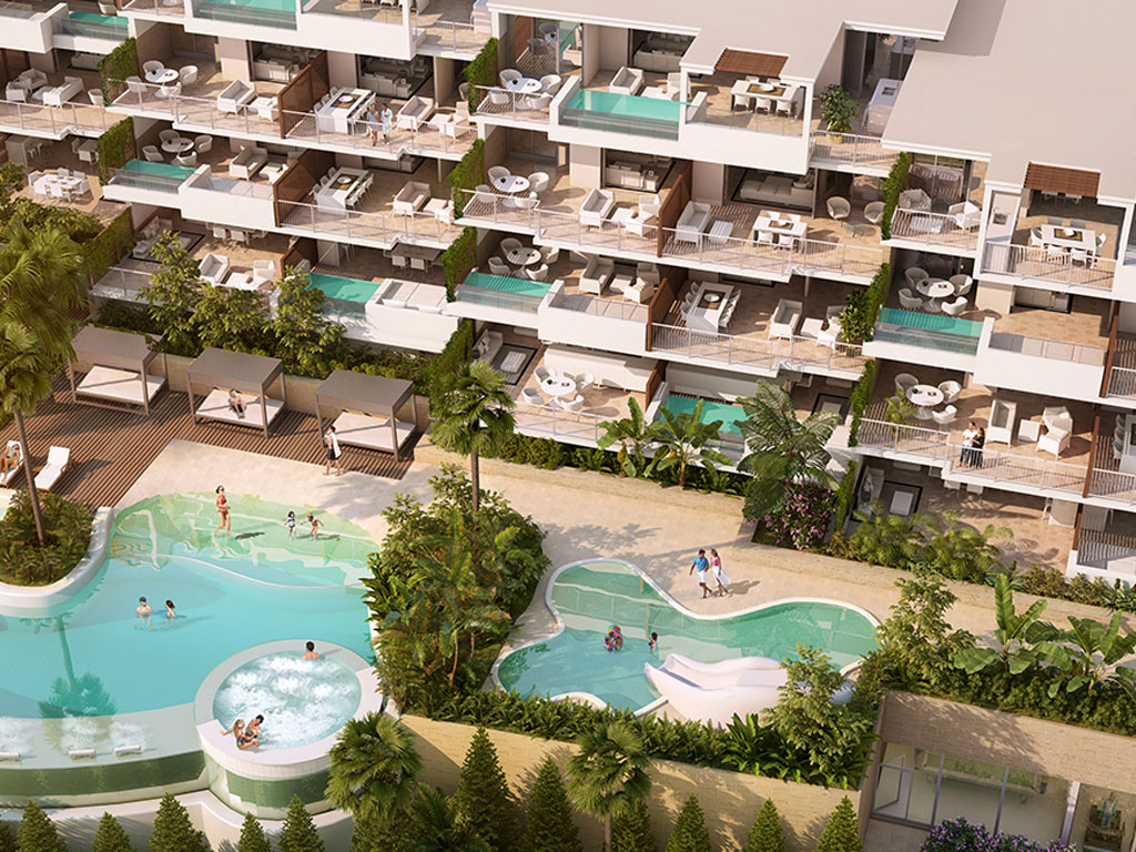 Luxury development apartments and penthouses 300m from beach