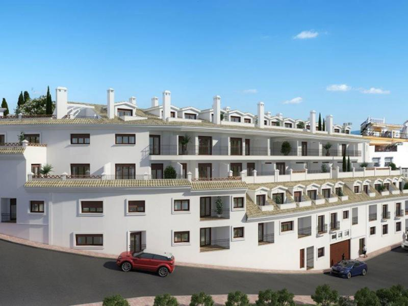Apartments under construction in Benalmádena